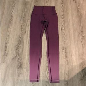 Lululemon Highwaisted 31' Wonder Under Ombré Tight